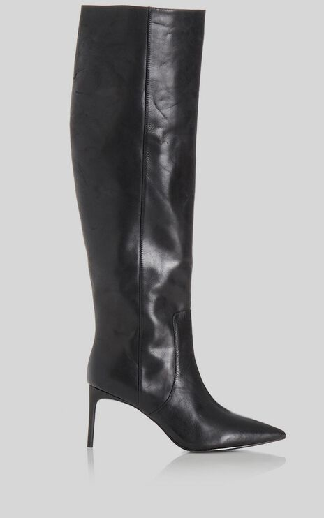 Alias Mae - Copper Boots in Black Burnished