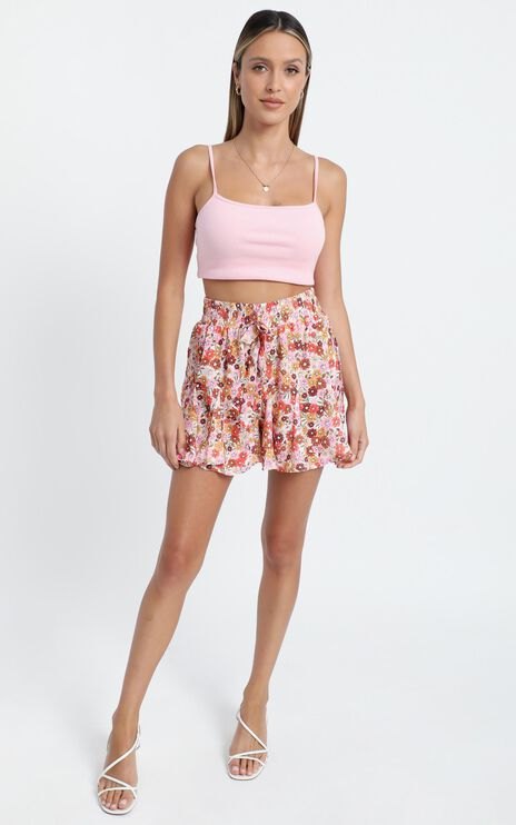 Stop Pretending Shorts in Sahara Ditsy Floral Print