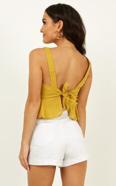 Not All Love Top In Mustard
