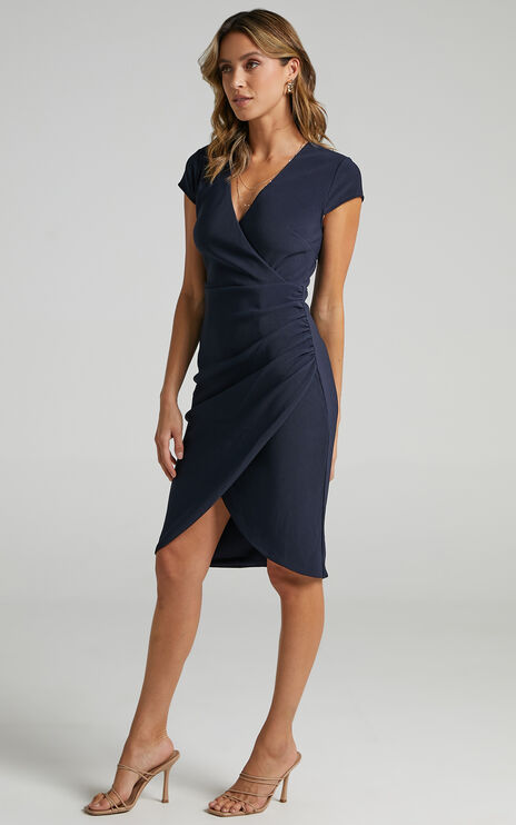 Quick Decider Dress in navy