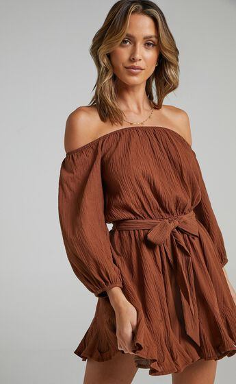 Madeira Dress in Chocolate