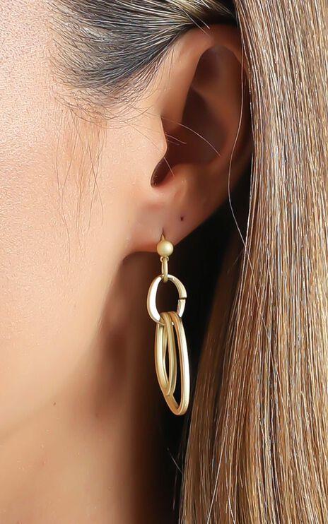 Drop Downs Earrings in Gold