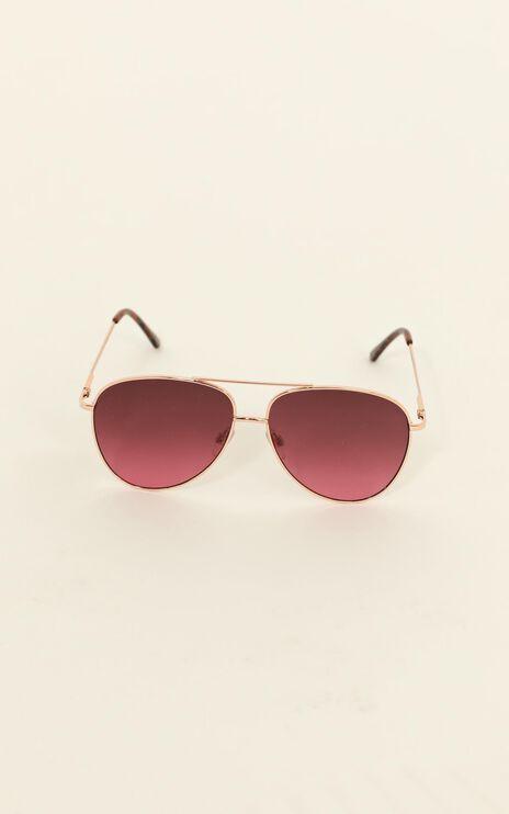 MinkPink - Joy Ride Sunglasses In Rose Gold