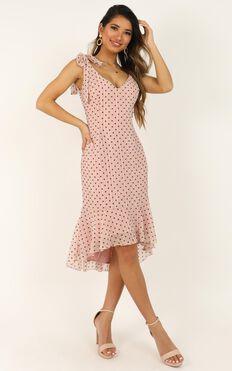 Successful Dress In Blush Flock