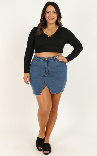 Love Its Clear Skirt In dark blue denim - 16 (XXL), Blue, hi-res image number null
