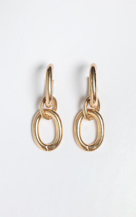 James Earrings in Gold
