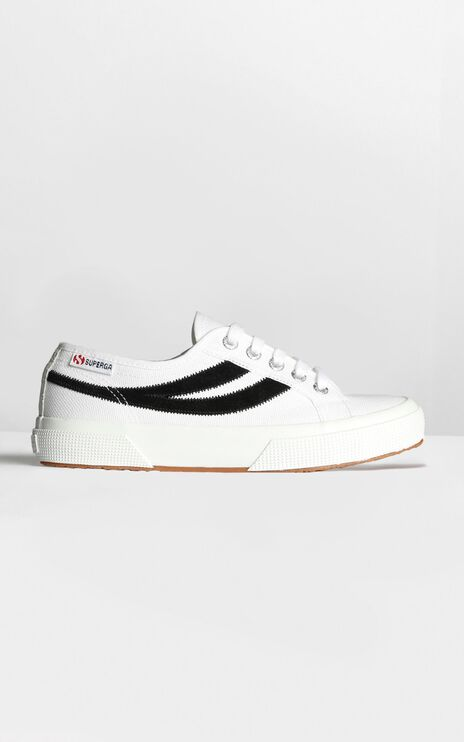 Superga - 2953 Swollowtail Cotusuede Sneaker In White And Black