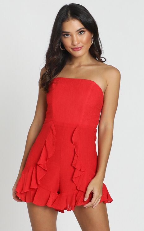 Think Pretty Playsuit In Red