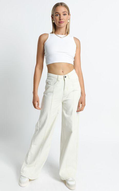 Cairo Jeans in Ecru