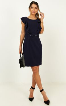 Project Master Dress In Navy