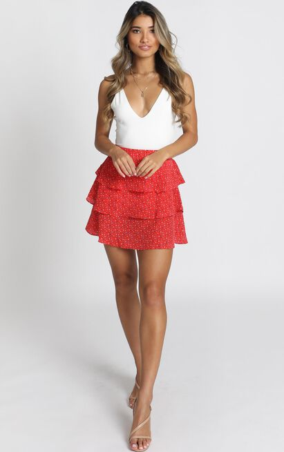 New Shores Skirt in red - 12 (L), Red, hi-res image number null