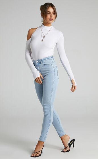 SNDYS - Bianca Knit Top in White