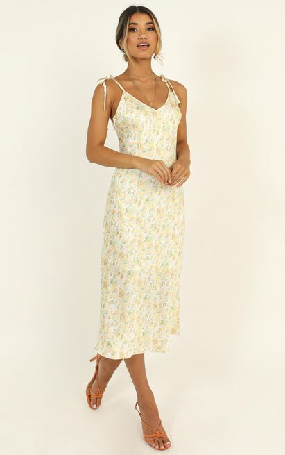 I Need Your Love Dress in cream floral - 12 (L), Cream, hi-res image number null