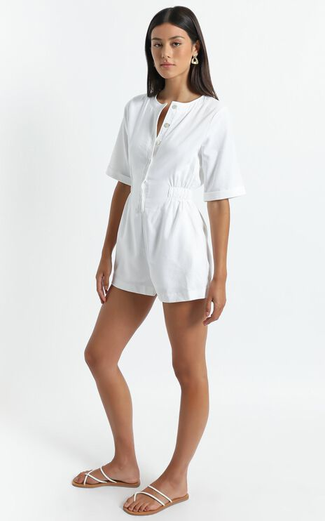 Melisende Playsuit in White
