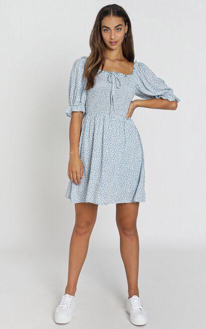 Xander Dress in blue - 8 (S), Blue, hi-res image number null