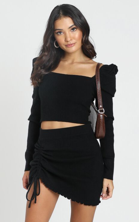 Mayra Knitted Skirt In Black
