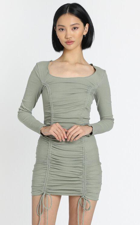Nina Dress in Khaki