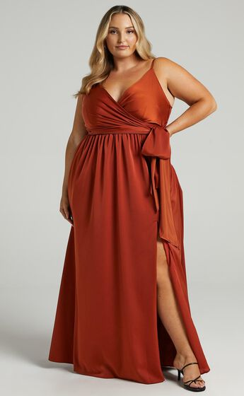 Revolve Around Me Dress in Copper