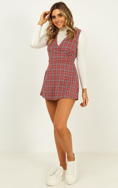Meaning of us Playsuit in wine check - 14 (XL), Wine, hi-res image number null