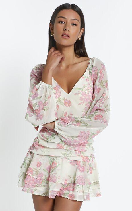 Ukie Dress in Cream Floral
