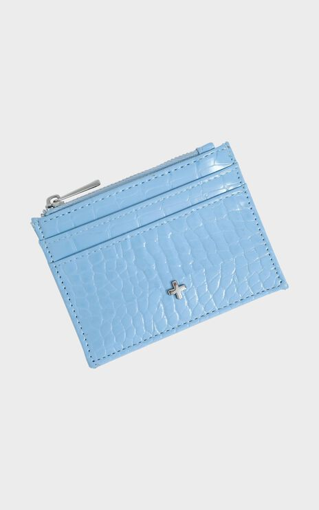 Peta and Jain - Ivy Card Holder in Baby Blue Croc