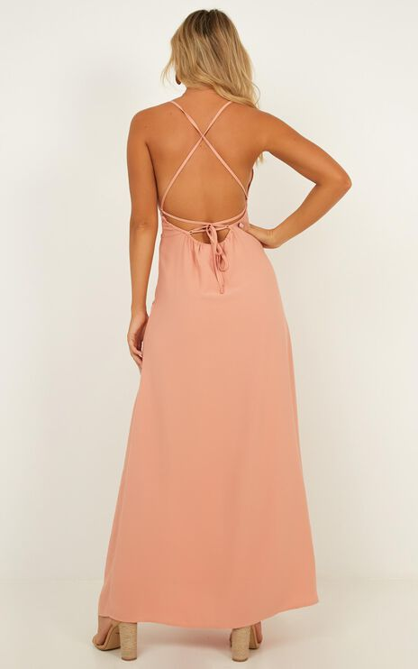 Royal Lady Dress In Blush