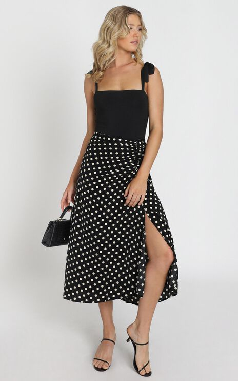 Kayleigh Skirt in Black Spot