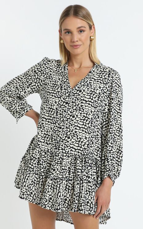 Skylar Dress in Leopard Print