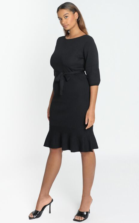 Jenna Knitted Dress in Black