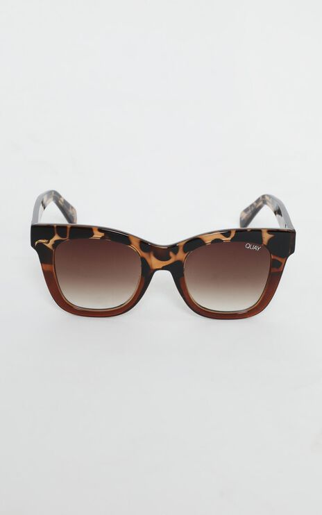Quay - After Hours Sunglasses In Tort And Brown Lens