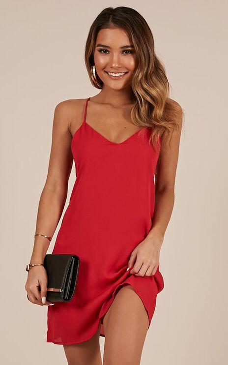 Like Soda Dress In Red