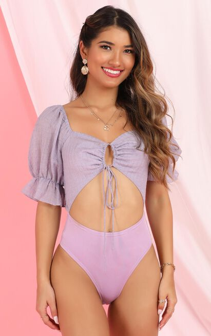 Cut Them Off Bodysuit in lilac - 12 (L), Purple, hi-res image number null