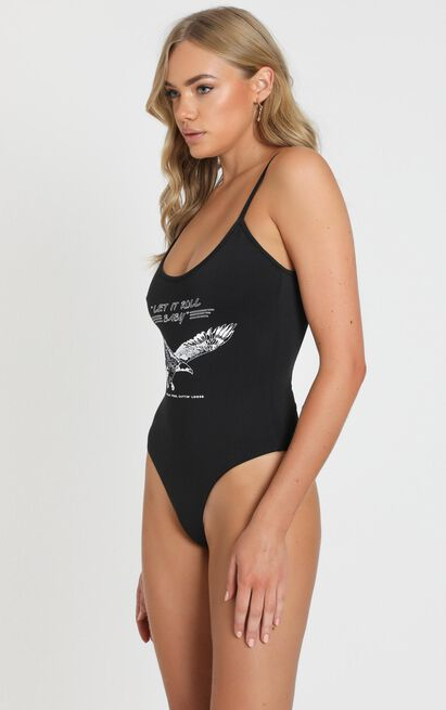 Never Coming Home Bodysuit In black - 14 (XL), Black, hi-res image number null