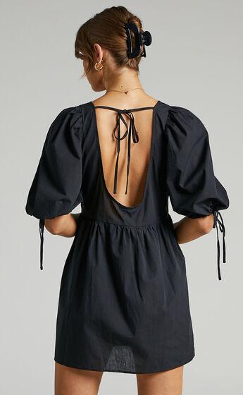 Claudeth Mini Dress in Black