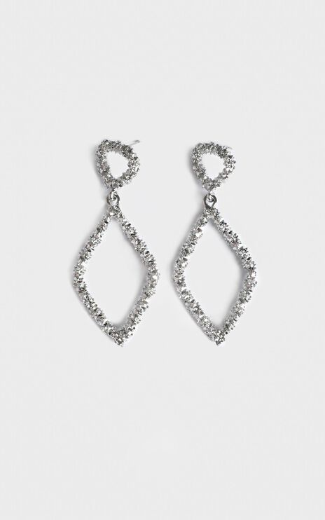 Disco Nights Sparkle Earrings In Silver