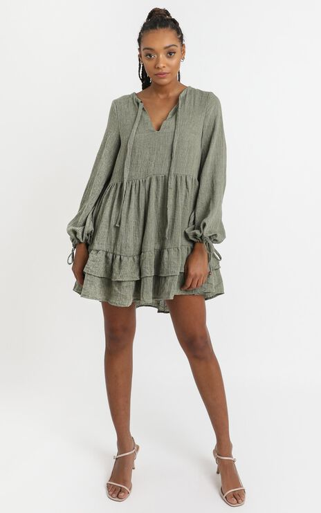 Carys Dress in Khaki