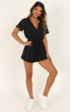 Northern Sun Playsuit In Black