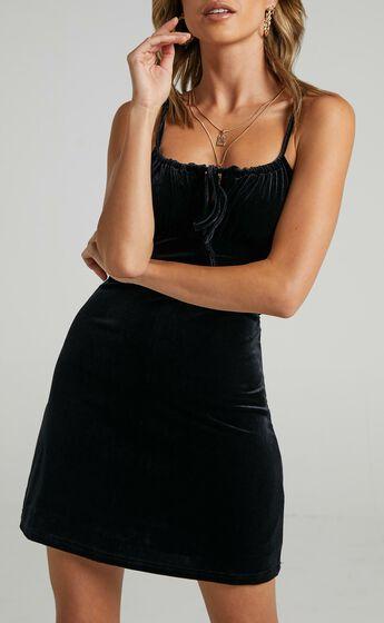 Ive Got You Now Dress in Black Velvet