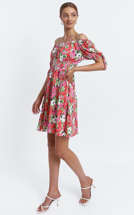 Octavia Dress in Pink Floral