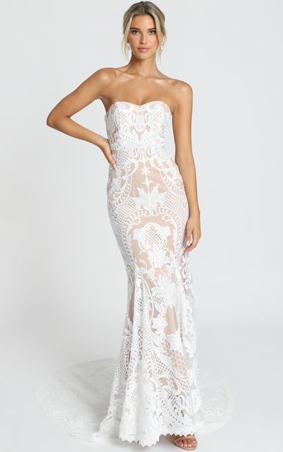 Lets Get Married Gown In white lace - 20 (XXXXL), White, hi-res image number null