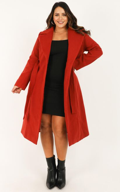 Class Act Trench Coat in Rust - 6 (XS), Rust, hi-res image number null