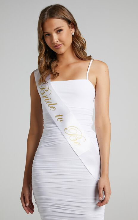 Bride To Be Sash in White