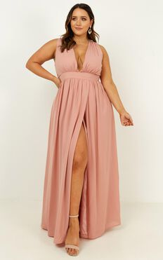 End Of The Song Dress In Dusty Rose