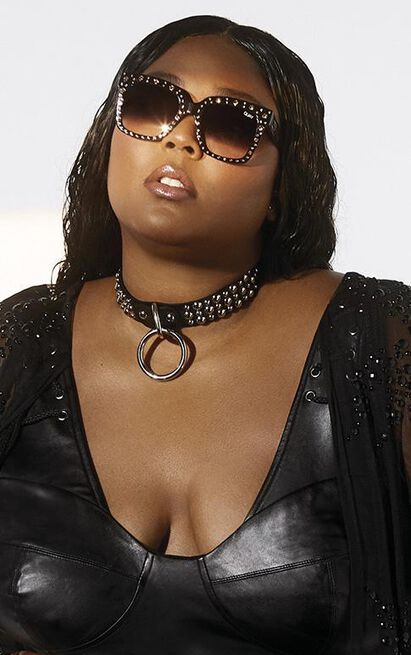 Quay X Lizzo - Icy Sunglasses in Black and Fade Lens, , hi-res image number null