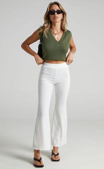 Namaste Flared Pant in White