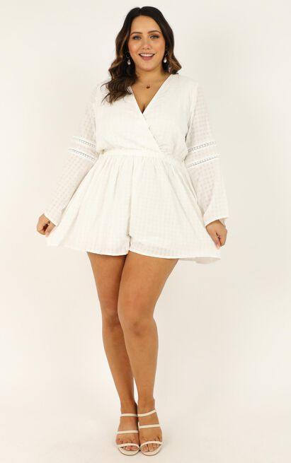 Beyond The Limit Playsuit In white - 20 (XXXXL), White, hi-res image number null