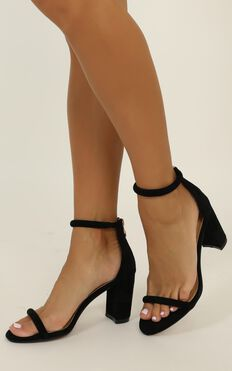 Billini - Rodeo Heels In Black Micro