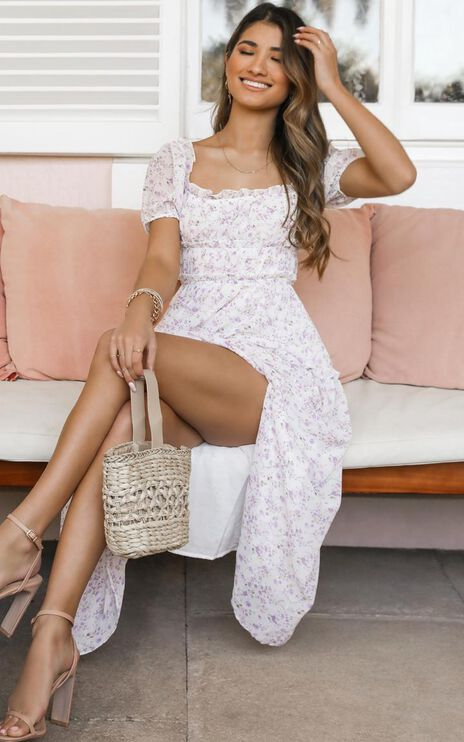 Elixir Of Life Dress In White Floral