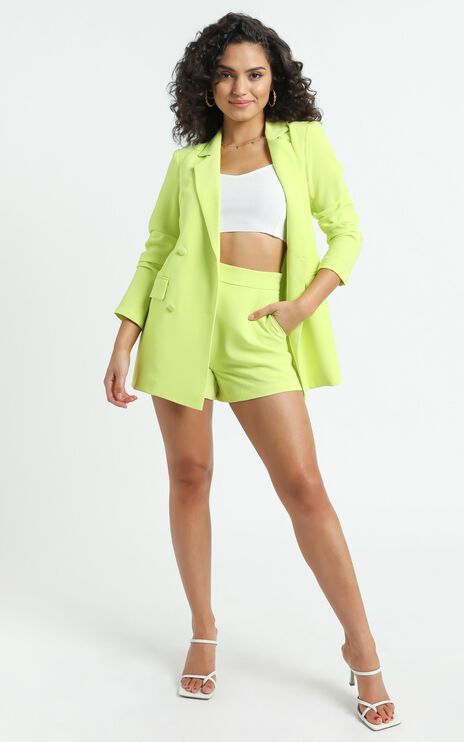 Quick To Win Blazer in Lime