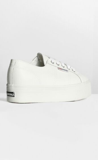 Superga - 2790 FGLW Platform Sneakers in White Leather